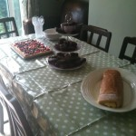 Pudding table before anyone arrived...