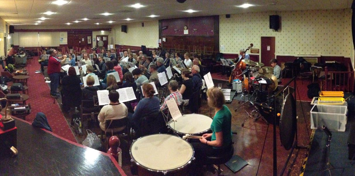 Derby Concert Band's last ever rehearsal at Derby Engineer's Club.